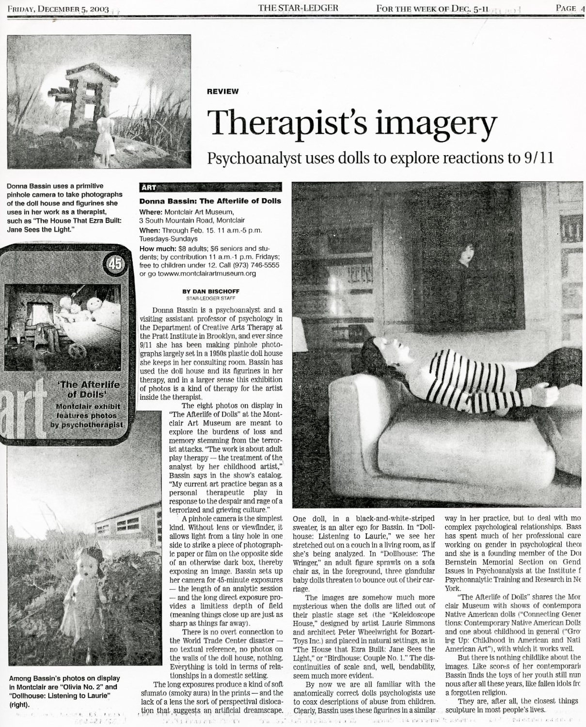 Star-Ledger, Therapist